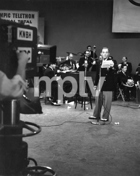 Bing CrosbyHis first T.V. appearance on CBS, 1952Photo by Gabi Rona - Image 0073_2035