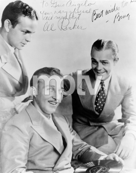 Bing Crosby with Al Rinker and Harry Barrisc. 1932 - Image 0073_2041