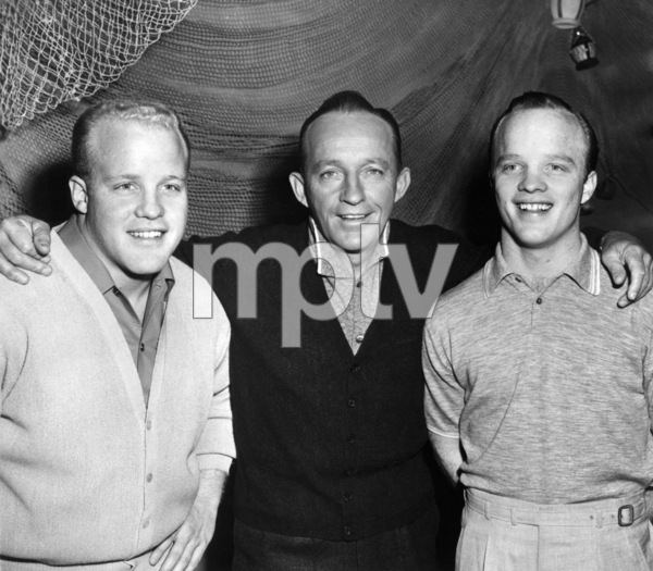 "Bing Crosby with twin sons Phillip and Dennis during ""The Bing Crosby Show""1959 - Image 0073_2128"