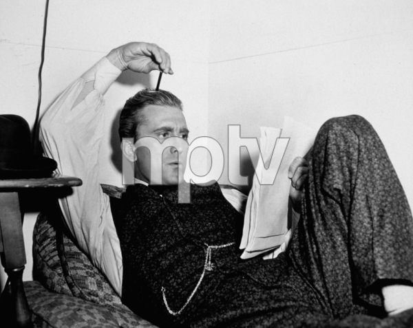 "Kirk Douglasresting between scenes on the set of ""The Big Trees""1952 Warner Bros.MPTV - Image 0075_0024"