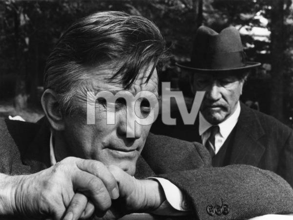 "Kirk Douglas and Richard Boone on the set of ""The Arrangement""1969 Warner Bros.© 1978 Bernie Abramson - Image 0075_0040"