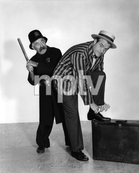 """The Red Skelton Show""Red Skelton and an original Keystone Kop1954Photo by Gabi Rona - Image 0081_2028"
