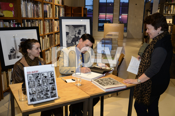 """Ron Avery and daughter Toni at a book signing for """"Sid Avery: The Art of the Hollywood Snapshot"""" 12-15-2012 / Arcana: Books on the Arts / Culver City, CA © 2012 Andrew Howick - Image 0090_1098"""