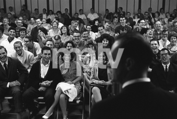 Bob Newhart performing at U.C.L.A.1961© 1978 Sid Avery - Image 0092_1292