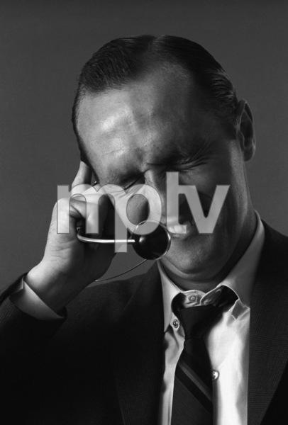 Bob Newhart enacting his telephone operator routine1961© 1978 Sid Avery - Image 0092_1366