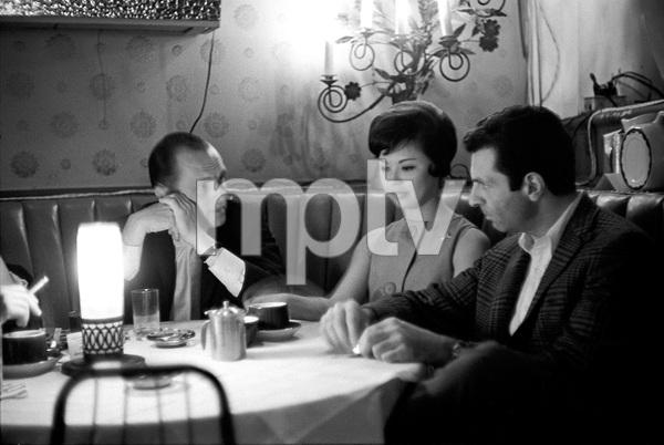 Bob Newhart and Mort Sahl at the Crescendo nightclub1961 © 1978 Sid Avery - Image 0092_3025
