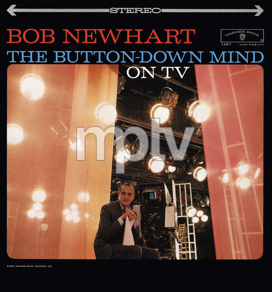 "Bob Newhart (Album cover for ""The Buttoned-Down Mind On TV"") 1961 © 1978 Sid Avery - Image 0092_3028"
