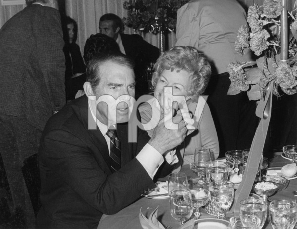 Fred MacMurray with wife June haverat a party for Henry Hathaway, 1973. © 1978 Chester Maydole - Image 0095_1027