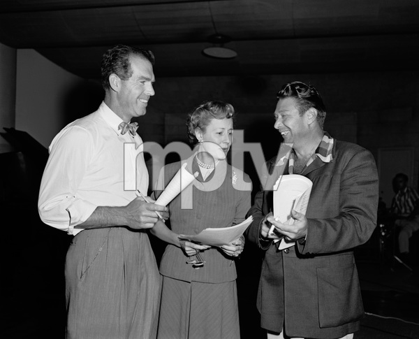 Fred MacMurray and Irene Dunne doing a radio show1951 © 1978 Sid Avery - Image 0095_1032