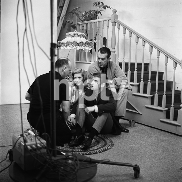 Fred MacMurray, Tim Considine and Meredith MacRae with photographer Sid Avery 1963© 1978 Sid Avery - Image 0095_1039