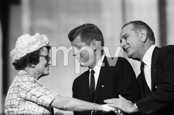 """The Democratic National Convention""Rose Kennedy, John F. Kennedy, Lyndon B. Johnson1960 © 1978 Lou Jacobs Jr. - Image 0135_0062"