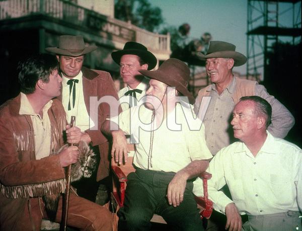 "Bob Hope, Fess Parker and Ward Bond on the set of ""Alias Jesse James"" 1959 UA - Image 0173_0300"