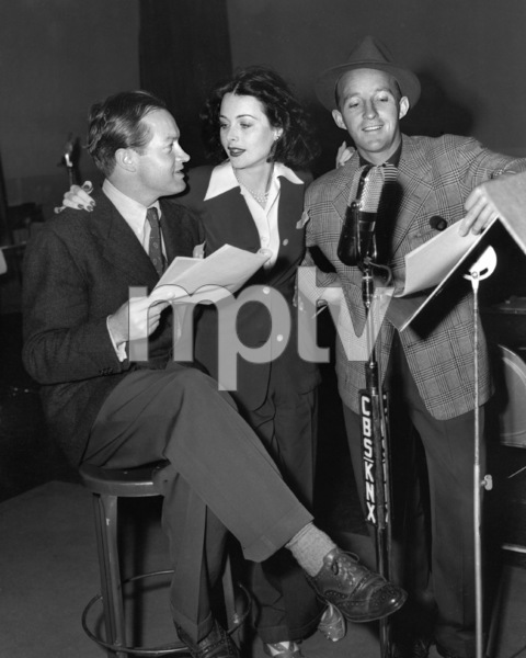Bob Hope, Hedy Lamarr and Bing Crosby circa 1940s ** I.V. - Image 0173_0619