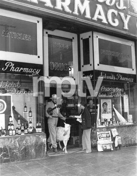 Hollywood and Los Angeles Landmarks Jim Moran (Publicity Agent) at Schwab