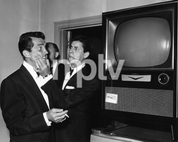 Jerry Lewis andDean Martin backstage at the Academy AwardsCirca  1954**I.V. - Image 0292_0525