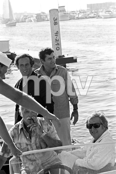 Jerry Lewis about to board his 60 foot yacht Princess Two with Ed McMahon and Joey Bishop1972 © 1978 Gunther - Image 0292_0554