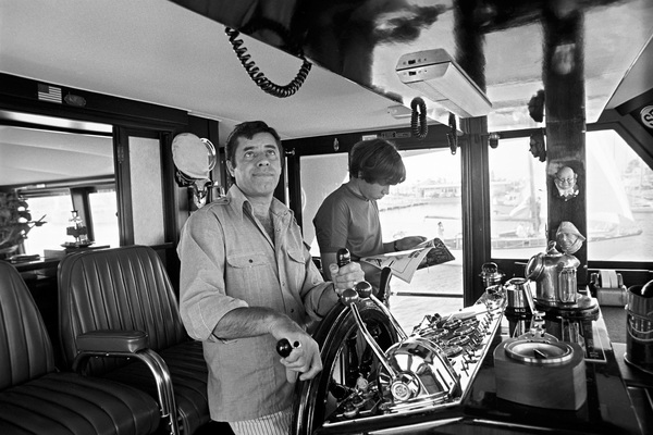 Jerry Lewis aboard his 60 foot yacht Princess Two with his son1972 © 1978 Gunther - Image 0292_0555