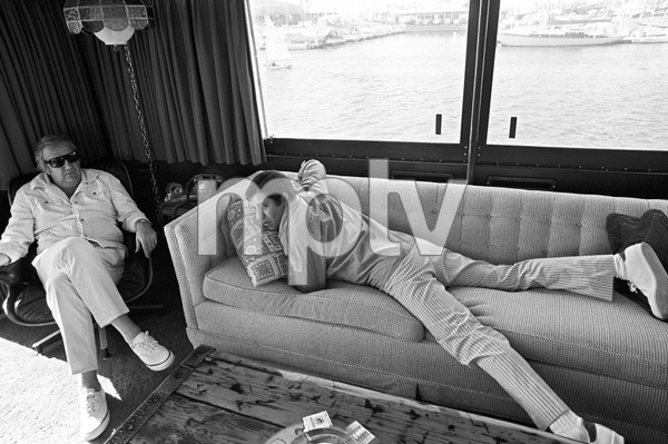 Jerry Lewis aboard his 60 foot yacht Princess Two with Ed McMahon1972 © 1978 Gunther - Image 0292_0556