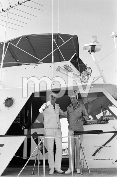 Jerry Lewis aboard his 60 foot yacht Princess Two with Ed McMahon1972 © 1978 Gunther - Image 0292_0557