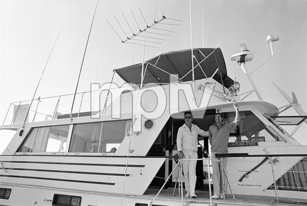 Jerry Lewis aboard his 60 foot yacht Princess Two with Ed McMahon1972 © 1978 Gunther - Image 0292_0558