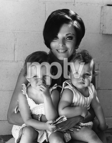 Joan Collins and her two children1966 © 1997 Ken Whitmore - Image 0299_0121