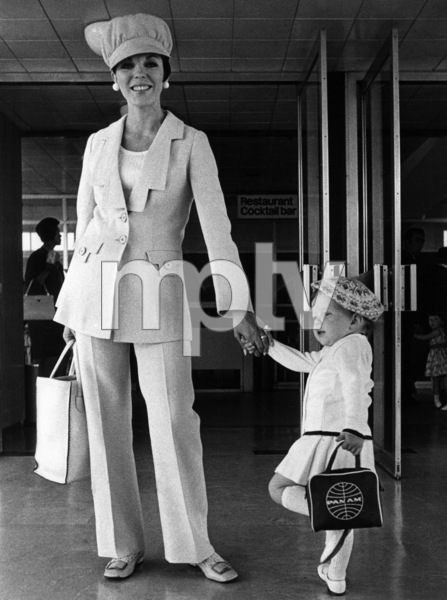 Joan Collins with her daughter, Tara, at London