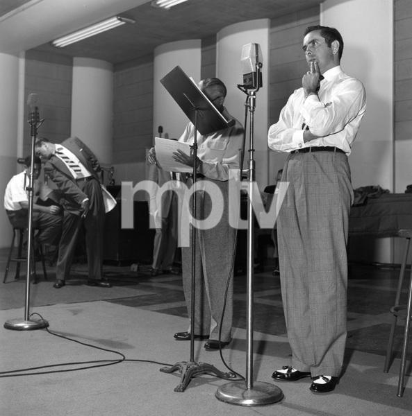 Tyrone Power during radio show08-09-1952 © 1978 Sid Avery - Image 0319_0169