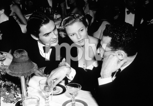 Tyrone Power, Anabella Cukor, and George Cukor.c. 1950.**I.V. - Image 0319_0170