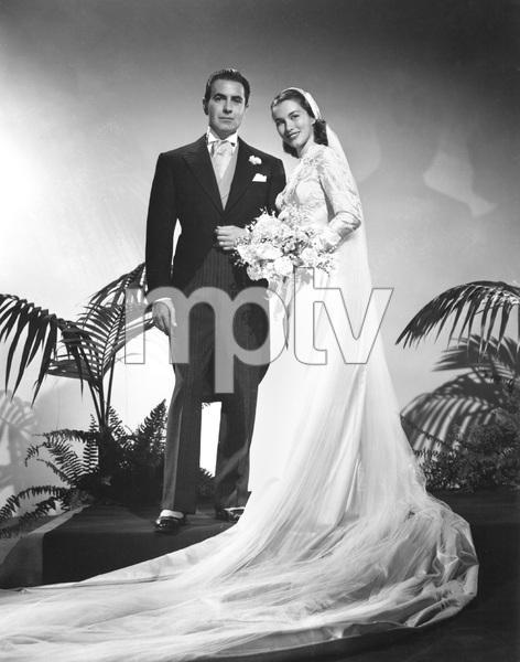 Tyrone Power and 2nd wife Linda Christian, 1949,  I.V. - Image 0319_0183