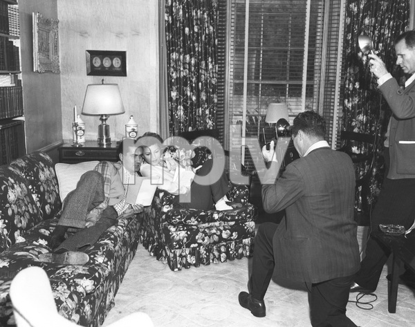 Tyrone Power and 2nd wife Linda Christian at home, 1949,  I.V. - Image 0319_0185
