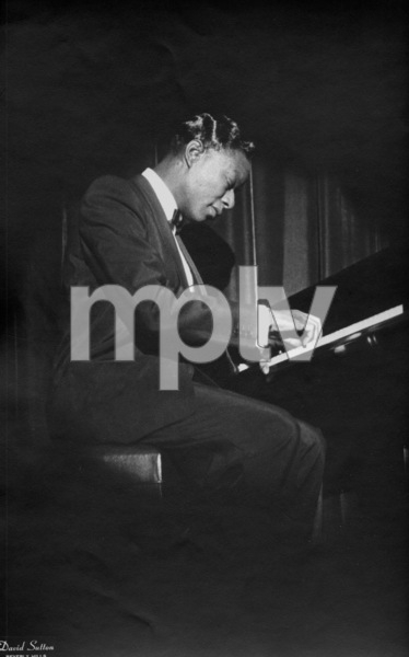 Nat King Cole playing the piano1955 © 1978 David Sutton - Image 0321_0052