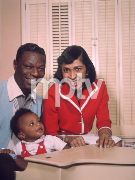 Nat King Coleand his son Nat Kelly & his wife Maria Cole1958 © 1978 David Sutton - Image 0321_0071