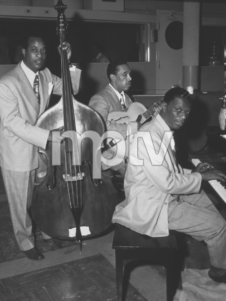 """Nat King ColeWith the """"Nat King Cole Trio""""Oscar Moore and Wesley Prince c. 1945 © 1978 Sid Avery - Image 0321_0092"""