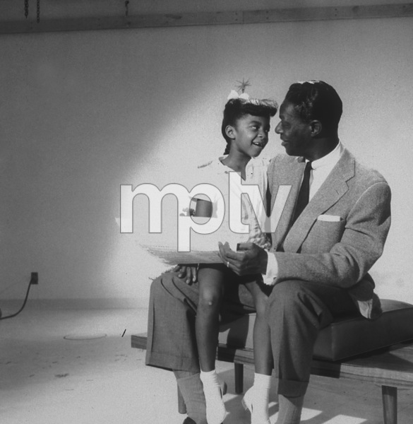 Nat King Cole with daughter Natalie Cole 1956 Capitol Records © 1978 Sid Avery - Image 0321_0104