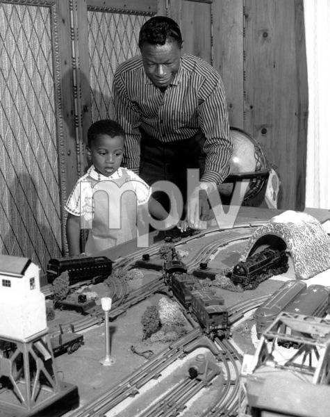 Nat King ColeWith son Nat Kelley 1962 - Image 0321_0174