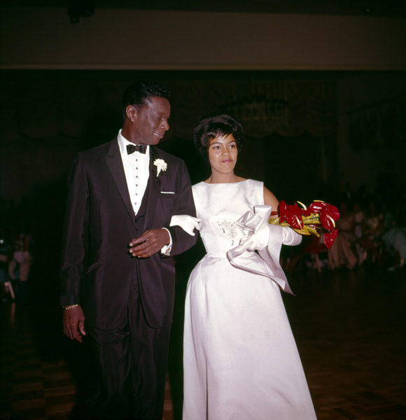Nat King Cole and daughter Carole Cole on her 18th Birthday - Coming Out Party 1967 © 1978 David Sutton - Image 0321_0205