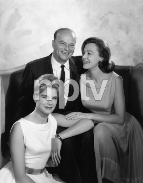 Frances Bergen with husband Edgar and daughter Candice circa 1961 © 1978 Wallace Seawell - Image 0322_0065