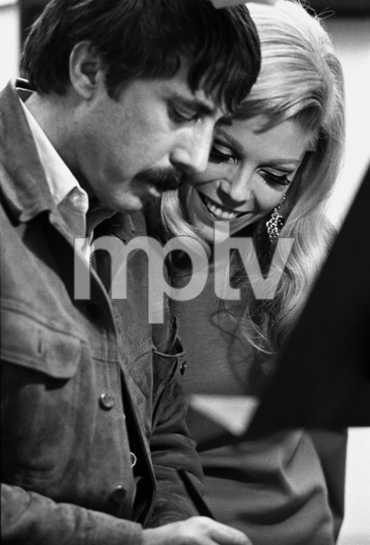 Nancy Sinatra in the studio with Lee Hazlewood during a recording session1968© 1978 Ed Thrasher - Image 0336_0194