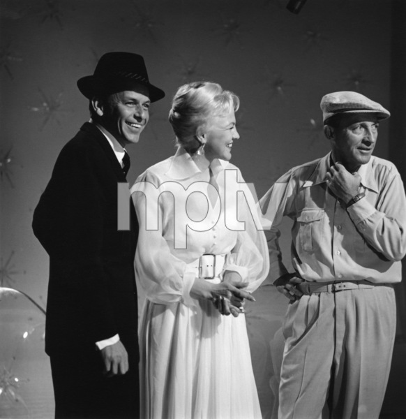 Frank Sinatra, Peggy Lee and Bing Crosby on an ABC television special 1959 © 1978 Sid Avery - Image 0337_0002