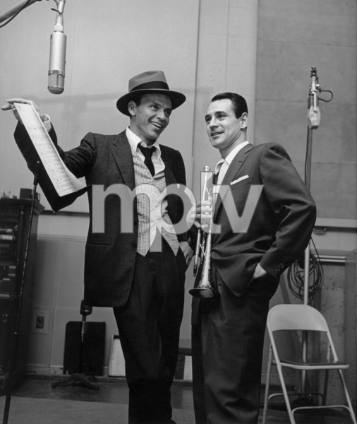Frank Sinatra at a recording session with band leader Ray Anthony at Capitol Records 1954 © 1978 Sid Avery - Image 0337_0011