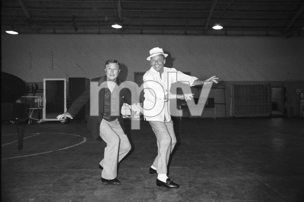 Frank Sinatra and Gene Kelly at a rehearsal at MGM1973 © 1978 David Sutton - Image 0337_0200