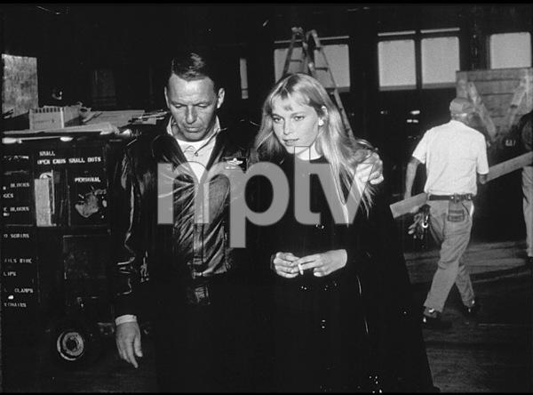 "Frank Sinatra meets Mia Farrow on theset of ""Von Ryan"