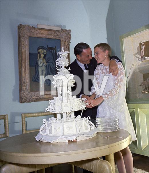 Frank Sinatra and Mia Farrow on their wedding day1966© 1978 Ted Allan - Image 0337_0859