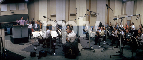 Frank Sinatra in a recording session1962 © 1978 Ted Allan - Image 0337_0943