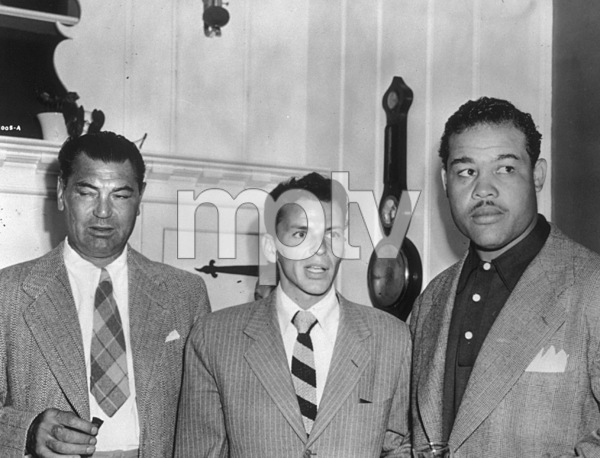 Frank Sinatra with boxing champions Joe Louis and Jack Dempsey c. 1947 - Image 0337_1047