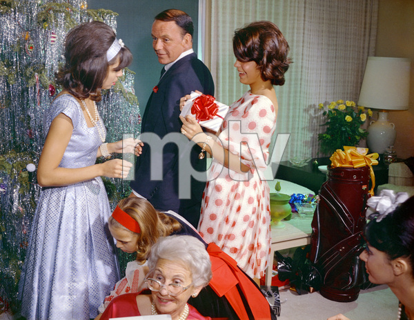 Frank Sinatra with Nancy and Tina at homecirca 1965© 1978 Ted Allan - Image 0337_1112