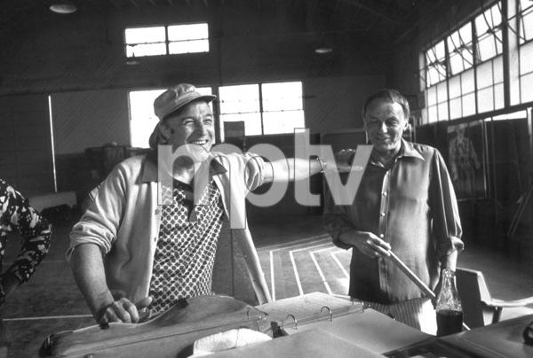 "Frank Sinatra and Gene Kelly rehearsing for the ""Ol"