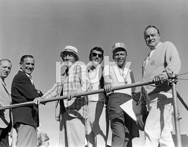 Frank Sinatra with Bing Crosby, Dean Martin and Bob Hope at Sinatra