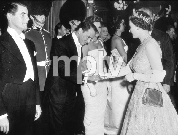 Frank Sinatra meeting Queen Elizabeth the Secondc. 1958 - Image 0337_1215