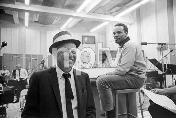 Frank Sinatra and Quincy Jones at a recording session1964 © 1978 David Sutton - Image 0337_1252